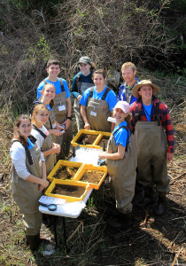 Watershed Academy - Boyne River Team (photo courtesy of Tip of the Mitt Watershed Council).